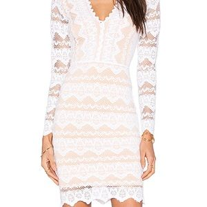 Nightcap x Carisa Rene Sierra Lace Deep V Dress